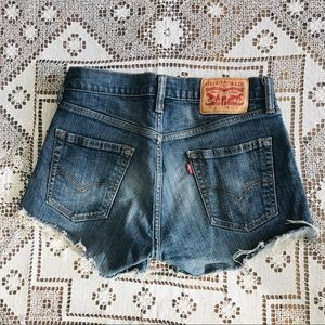 Levi's 514 denim jean cutoff shorts blue sz 29